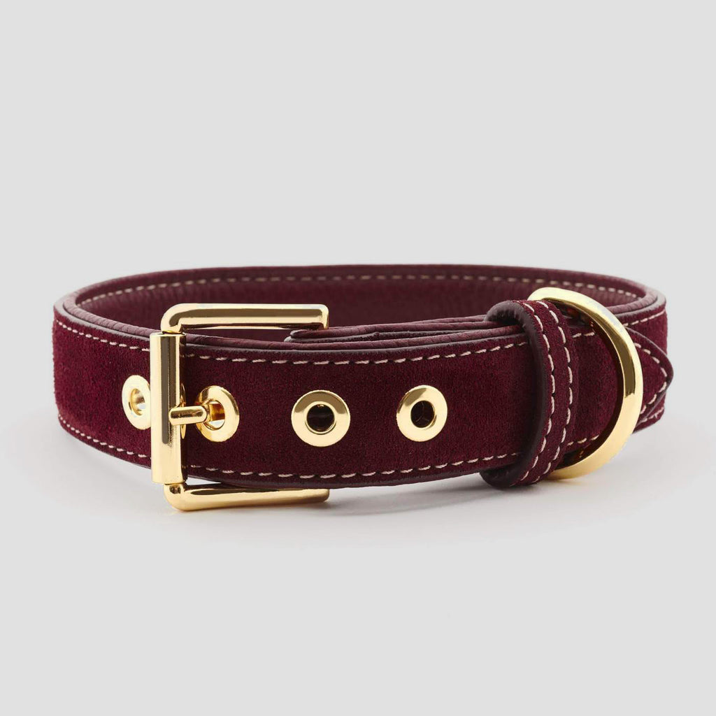 William Walker Leather Dog Collar - Lambrusco