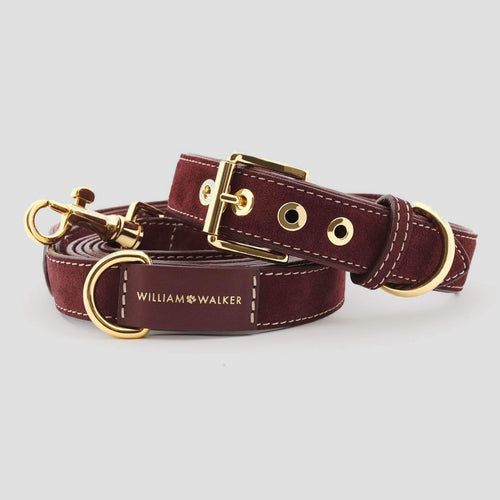 William Walker Leather Dog Leash - Lambrusco