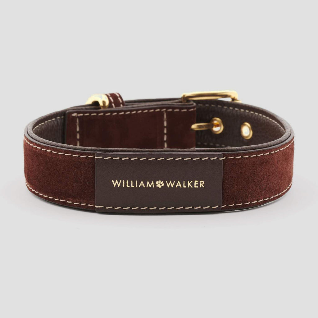 William Walker Leather Dog Collar - Makassar