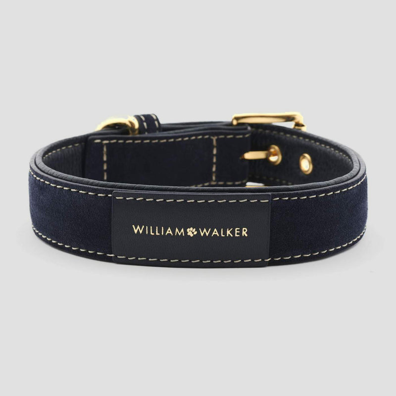 William Walker Leather Dog Collar - Midnight