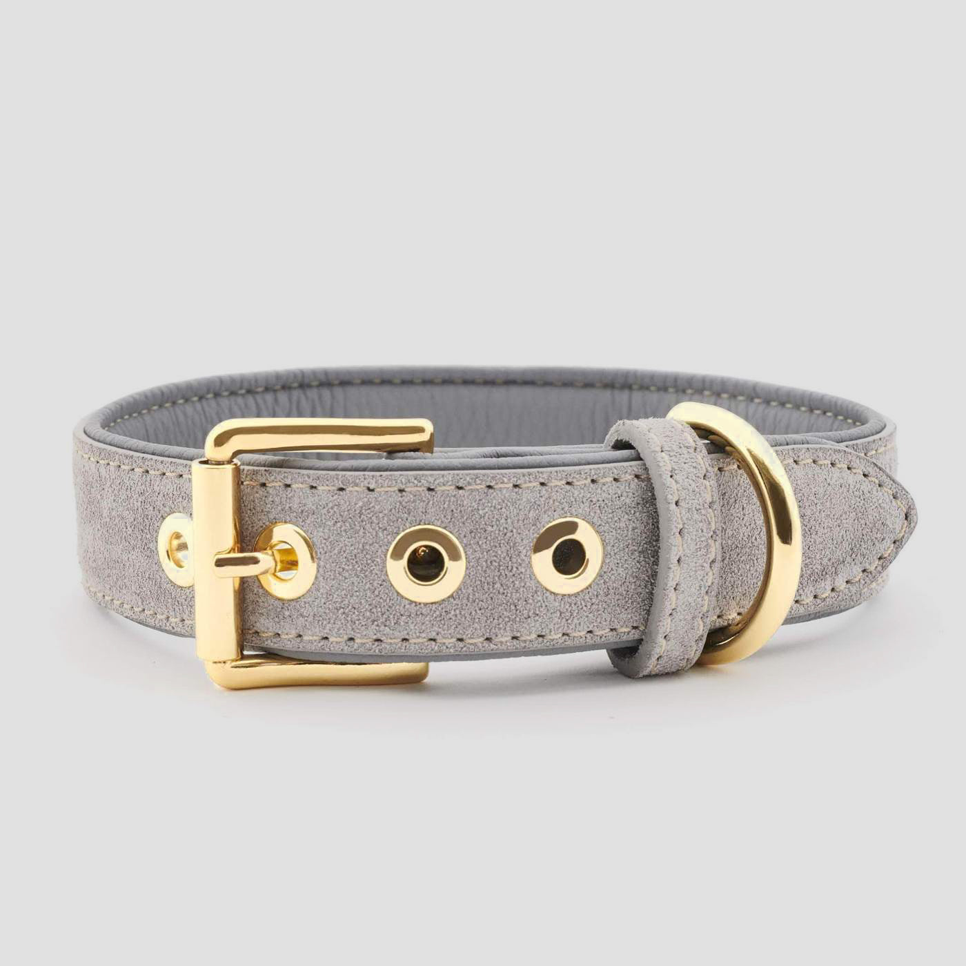William Walker Leather Dog Collar - Sea Salt