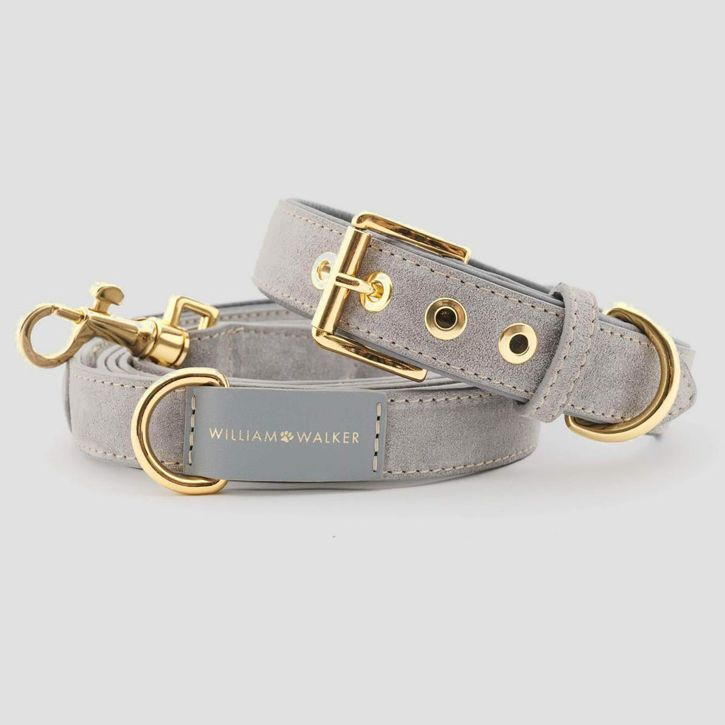 William Walker Leather Dog Leash - Sea Salt