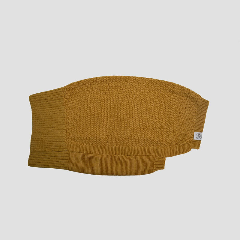 yellow wool dog jumper