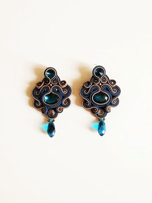 Blue sapphire Earrings - Italian Treasures