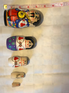 Whimsical 5 piece matryoshka set Man with bandura