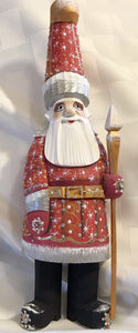 Intricate handcarved & painted Santa