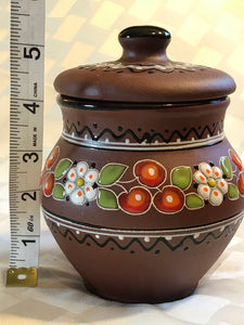 Beautiful hand-made ceramic pot/jar