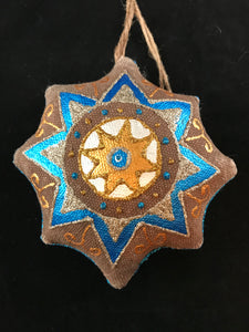 Painted canvas ornament