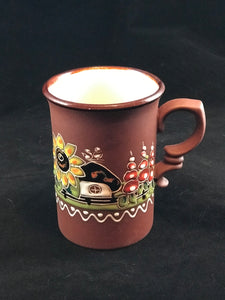 Ukrainian handmade tall coffee/tea mug