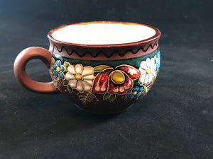 Rounded Ukrainian coffee/tea mug