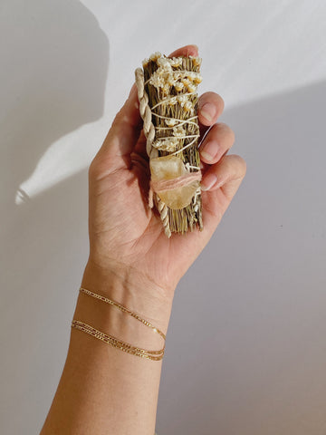 Smudge stick with Citrine