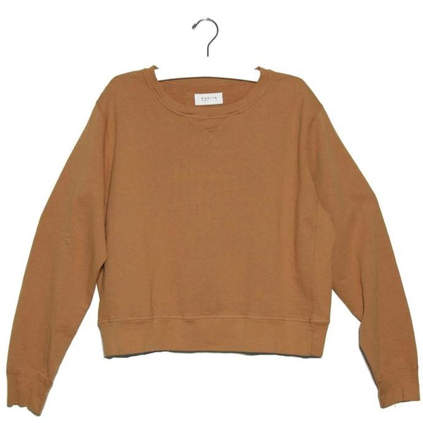 Ava II French Terry Crew Sweater- Canyon