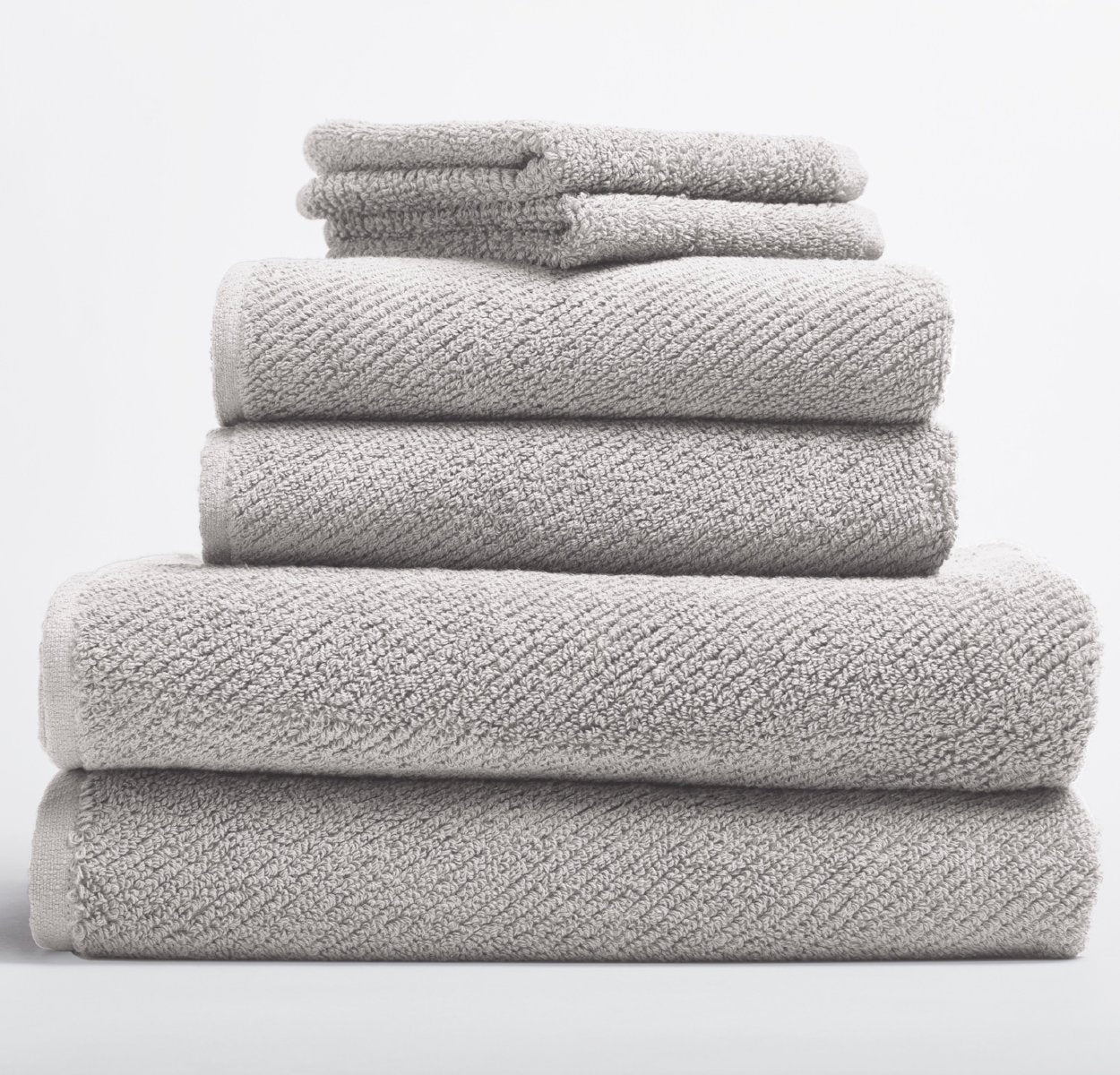 Airweight Organic Towel Set - Fog (6 pc)