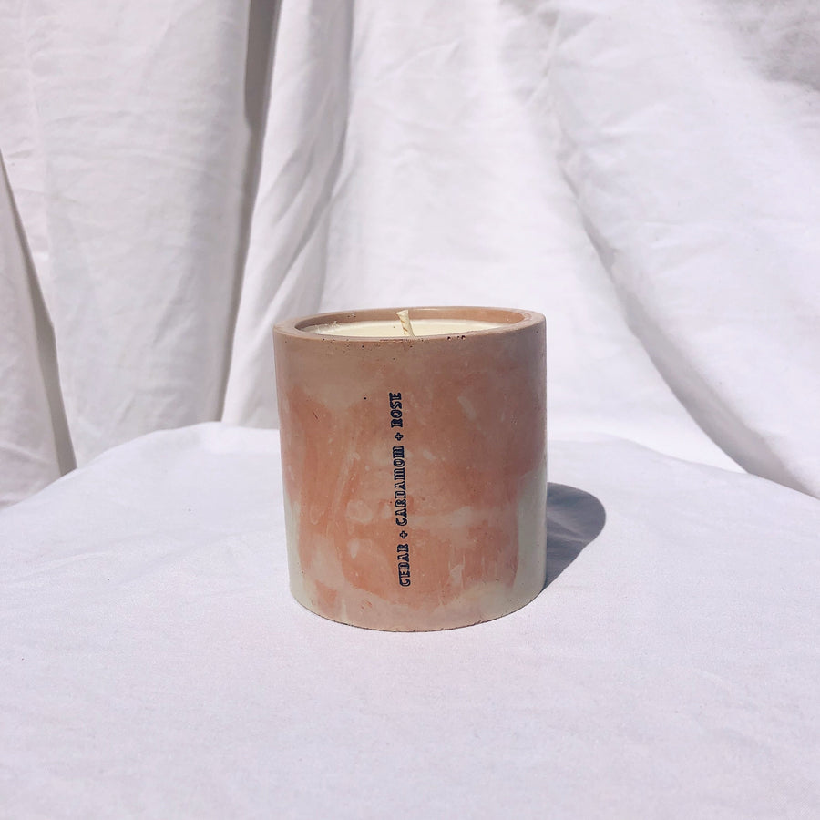 Cinnamon + Cedar Concrete Candle - 6 oz