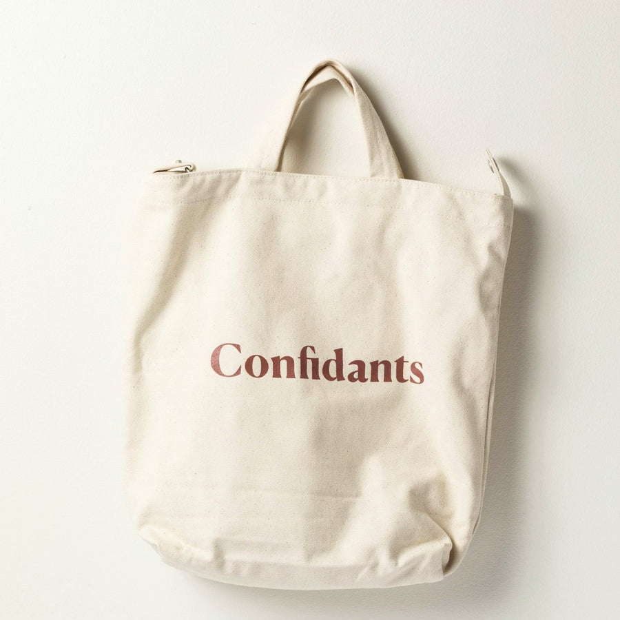 Confidants Duck Canvas Tote- White