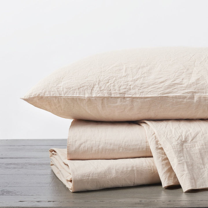 Organic Crinkle Percale Sheet Set (Queen)