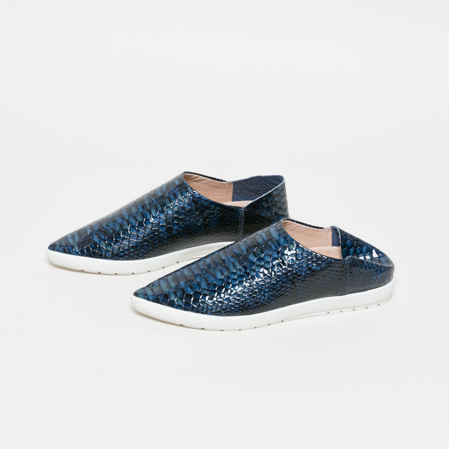 Babouche Slide + Sneaker- Deep Blue Sea