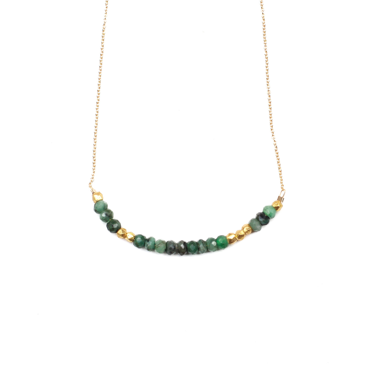 """Love"" Necklace - Emerald"