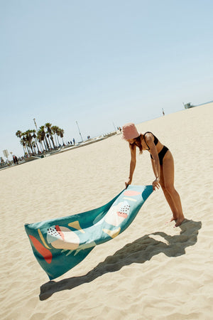 Eden Recycled Towel- Beach + Yoga + Camping