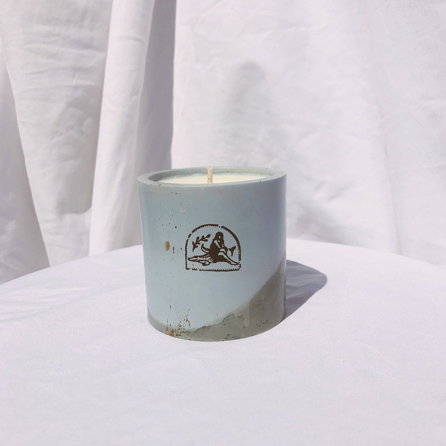 Peppermint + Eucalyptus Concrete Candle - 6 oz