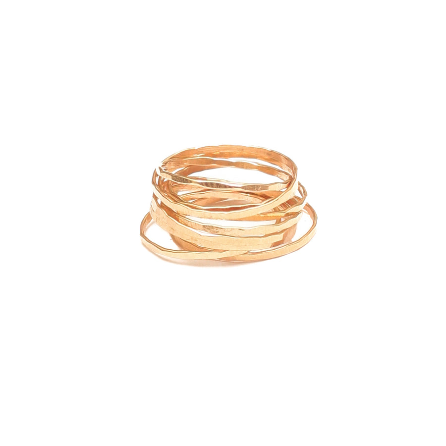 14K Gold Stacking Rings- Set of 2