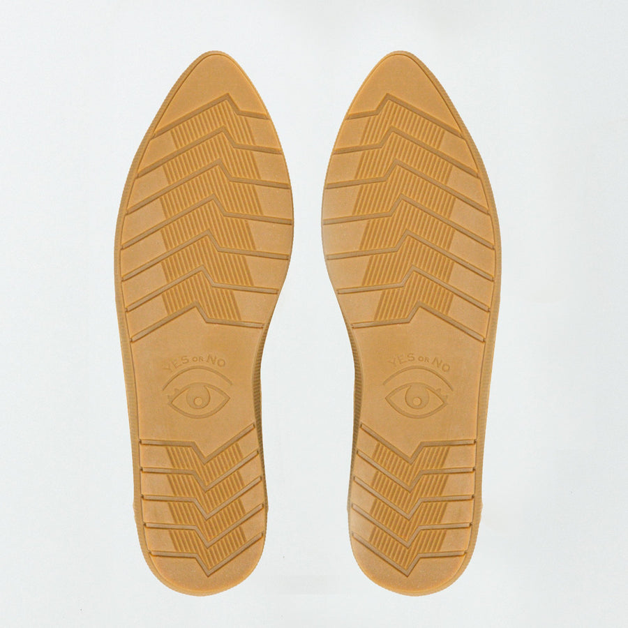 Babouche Slide + Sneaker- Yellow Patented Snake