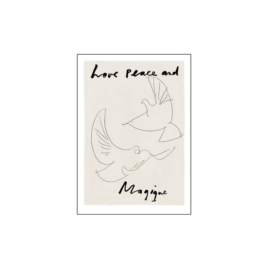 Love Peace and Magique Greeting Card - A6