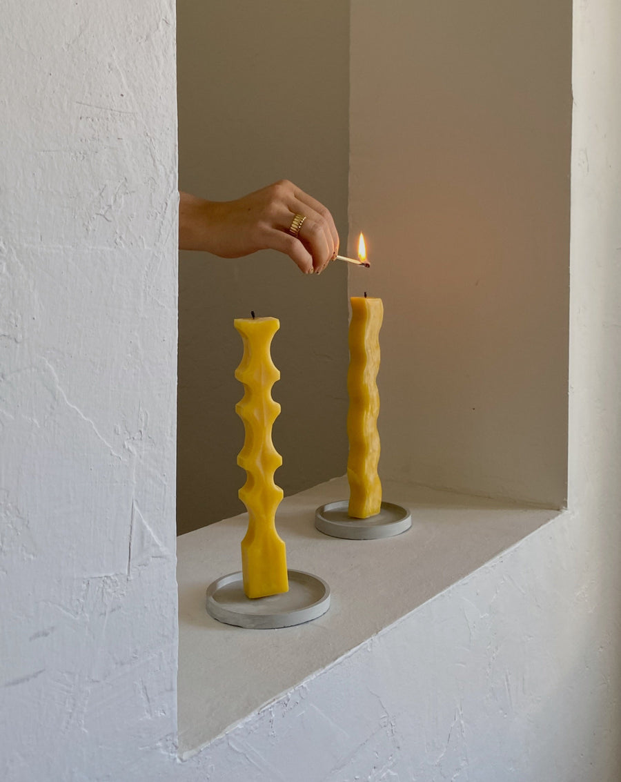 Ripple Candle + Concrete Dish
