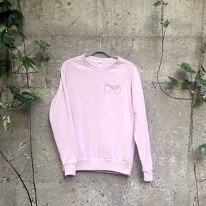 Confidants Crew Sweater- Chainstitched (Rose)