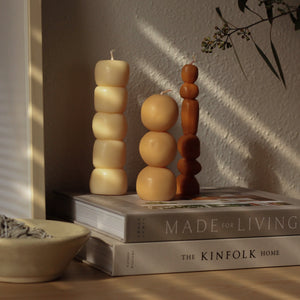Piu Sculptural Candles- Set of 3