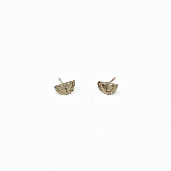 Mesa Stud Earrings- White Bronze