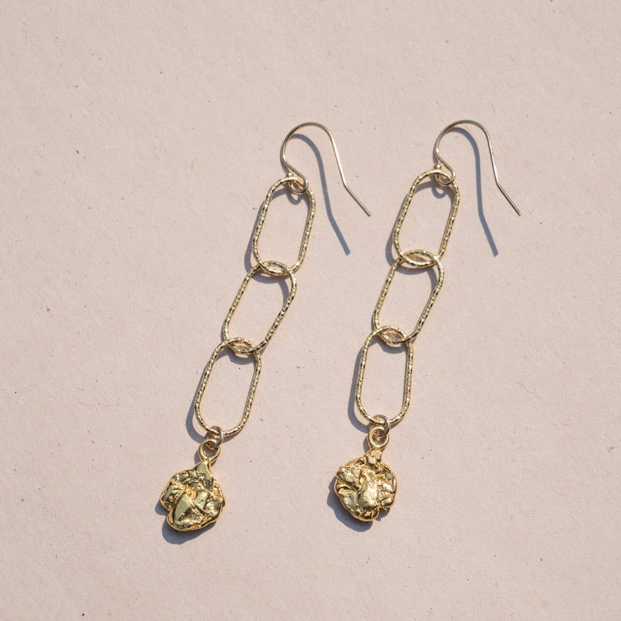 Isla Drop Earrings- 14k Gold Vermeil