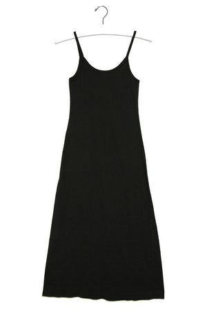 Kate Ribbed Midi Dress- Black