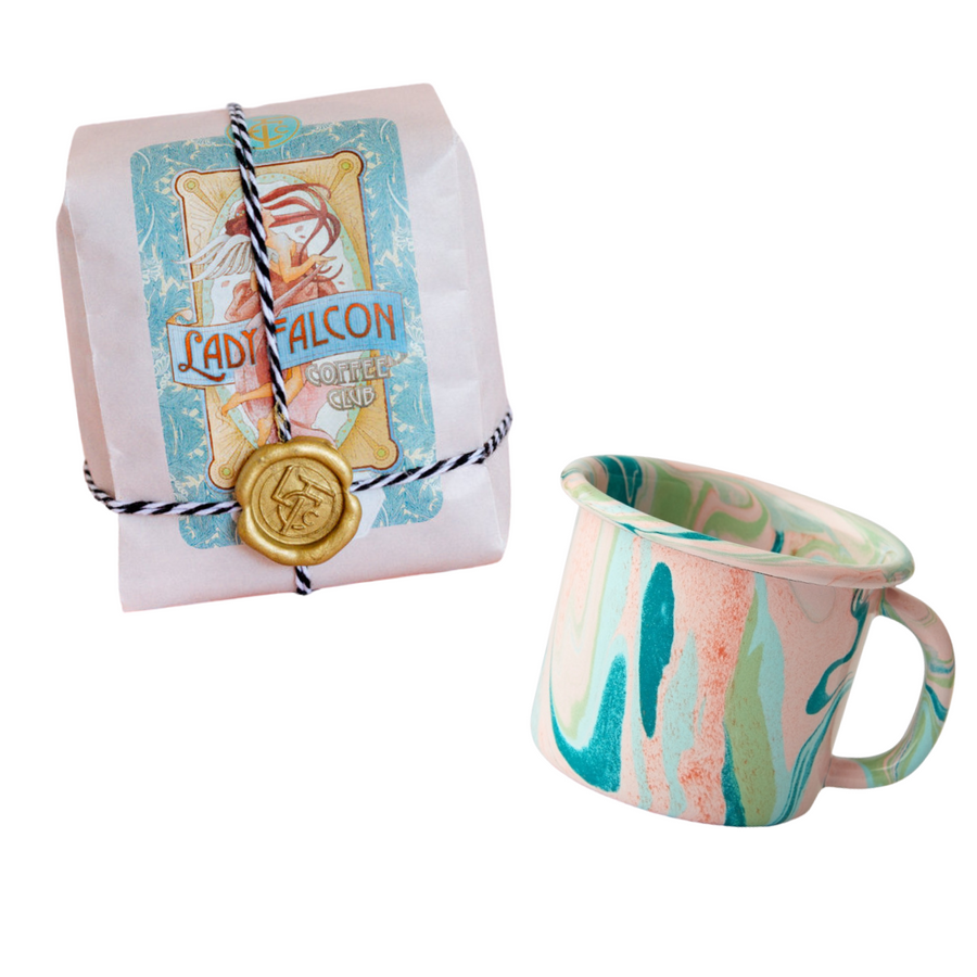 Simple Joys Gift Set - Coffee x Enamel Swirl Mug