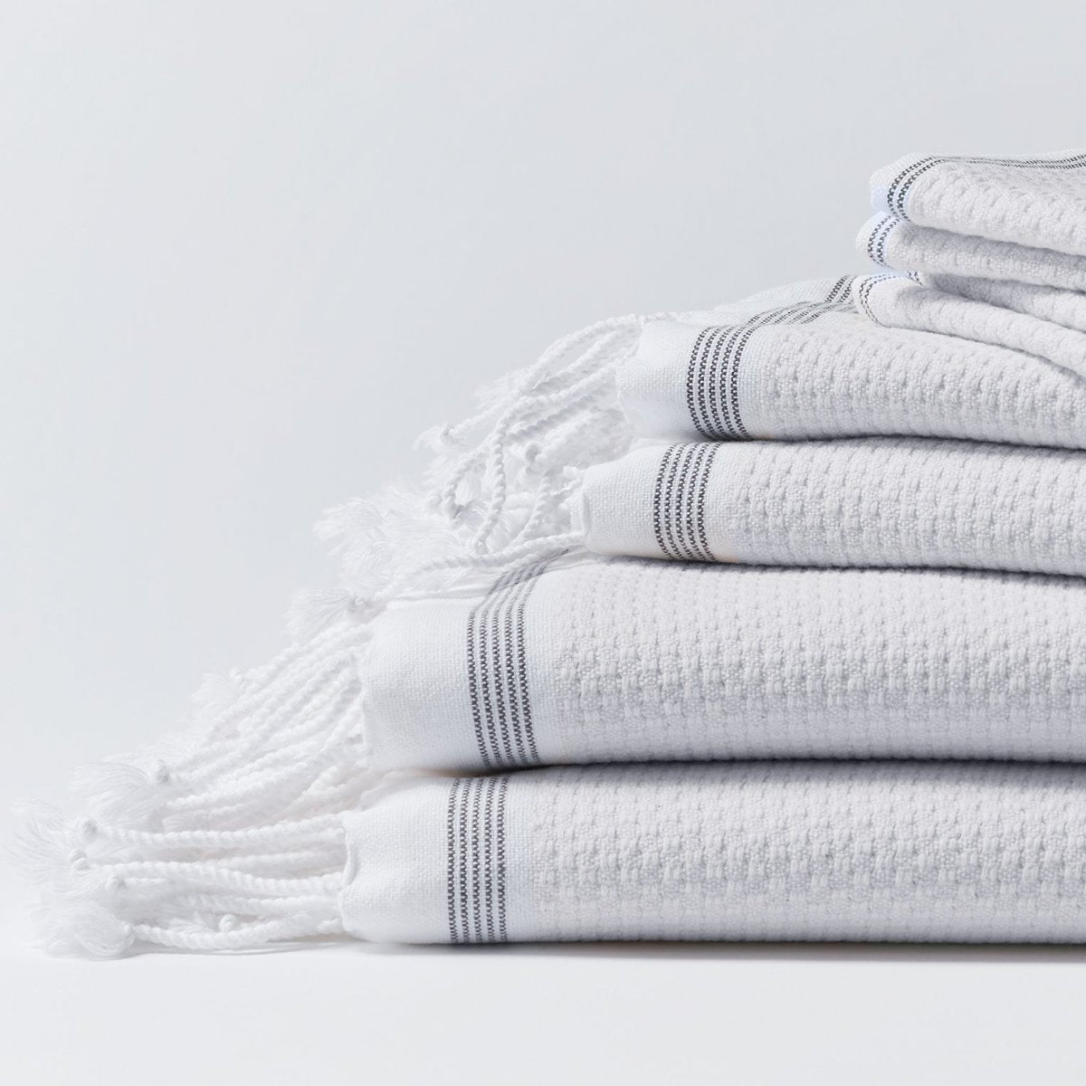 Mediterranean Organic Towel Set - White (6 pc)