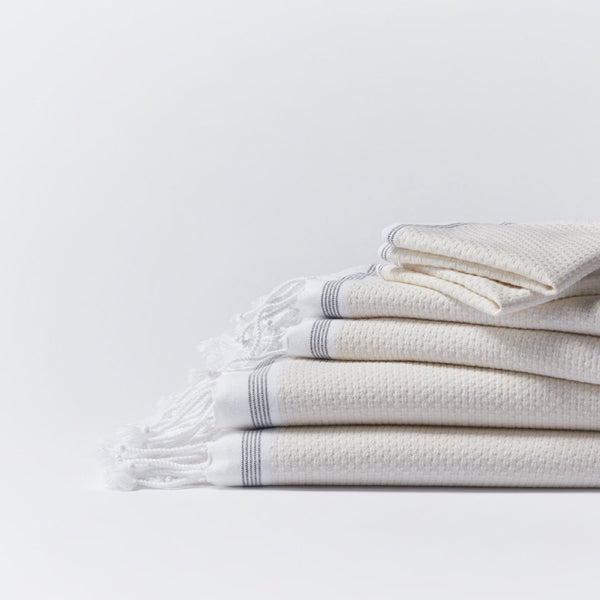Mediterranean Organic Towel Set - Natural (6 pc)