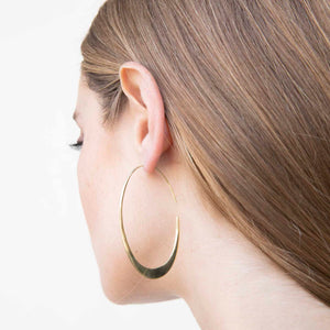 Mezi Tapered Hoops- 24k gold plated