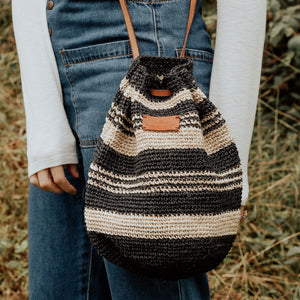 Ñaña Bucket Bag- Stripes