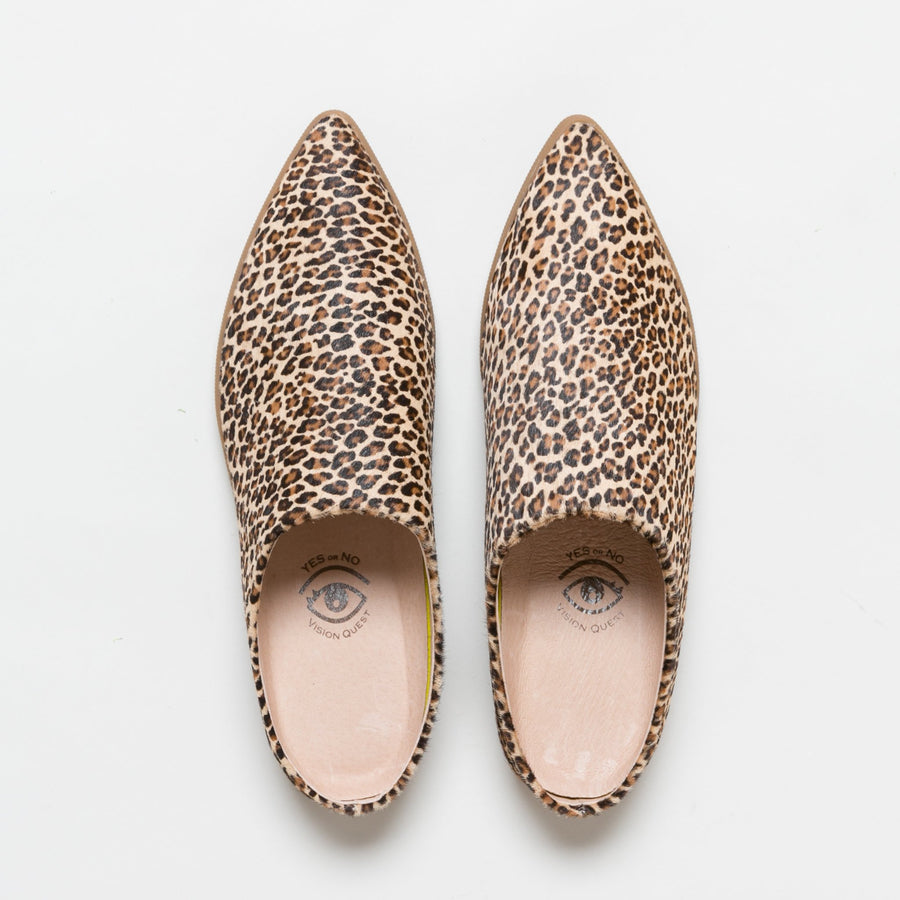 Babouche Slide- Mini Leopard