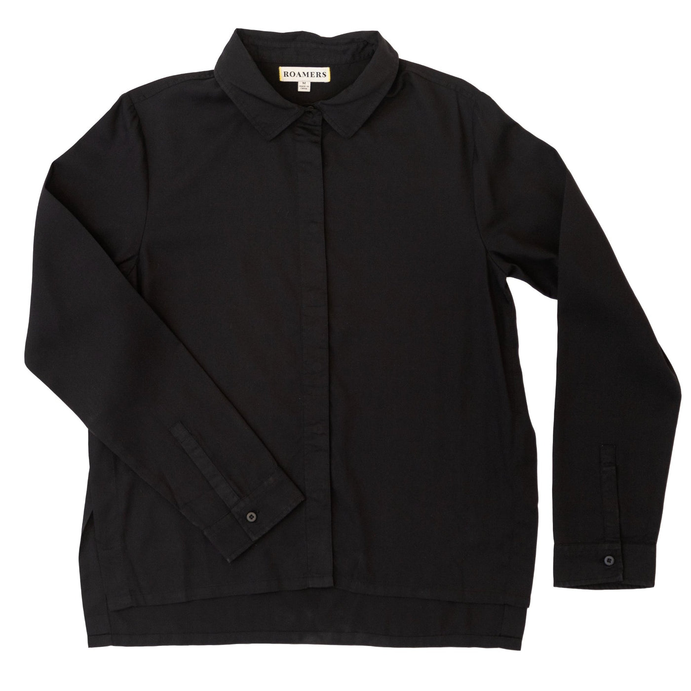 Monarch Button Up- Dark Charcoal