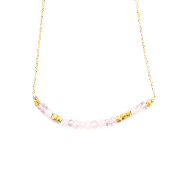 """Love"" Necklace - Rose Quartz"