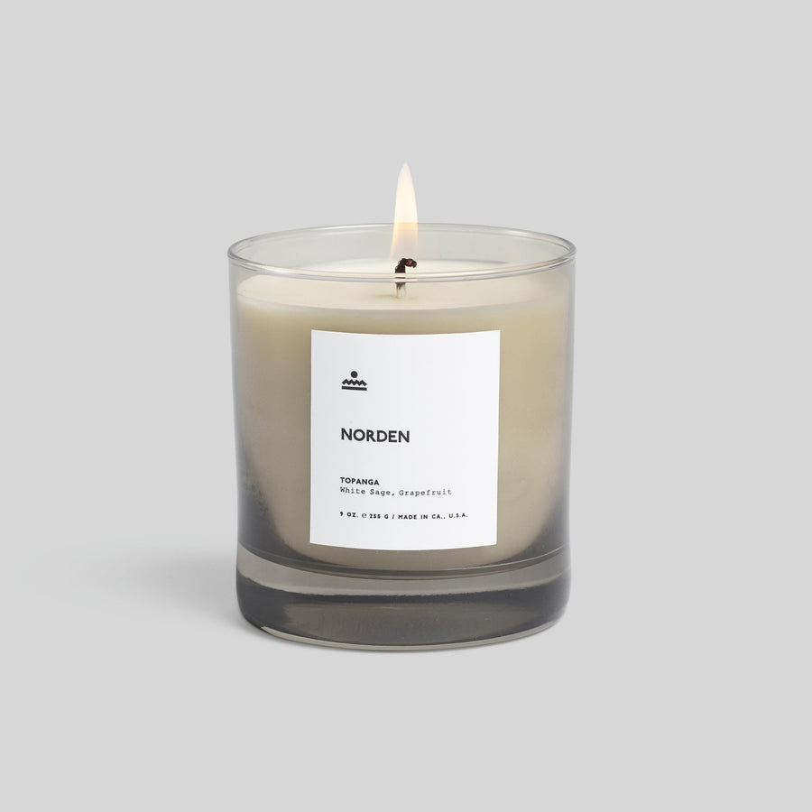 Topanga Glass Candle- White Sage & Cypress