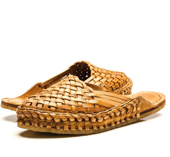 Women's City Slipper- Woven Leather