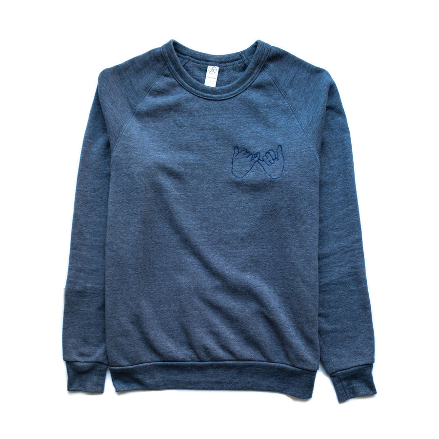 Confidants Crew Sweater- Chainstitched (Navy)