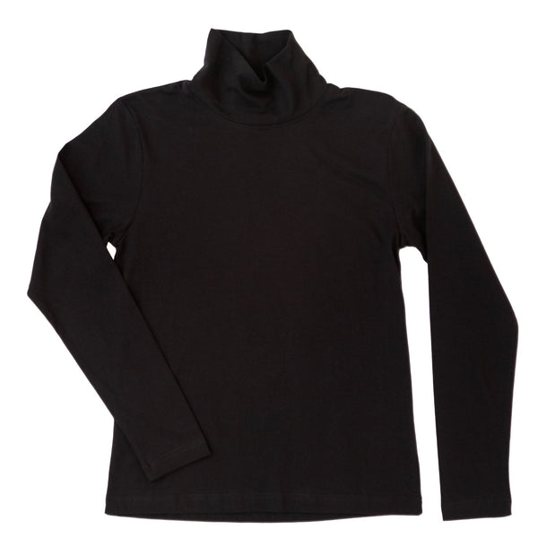 Oak Grove Organic Cotton Turtleneck- Black