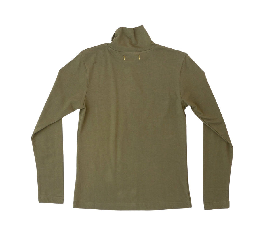 Oak Grove Organic Cotton Turtleneck- Olive