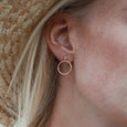 Infinite Circle Stud Earrings- 14k Gold