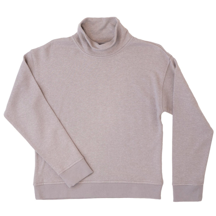 Pfeiffer Funnel Neck Sweater- Gray