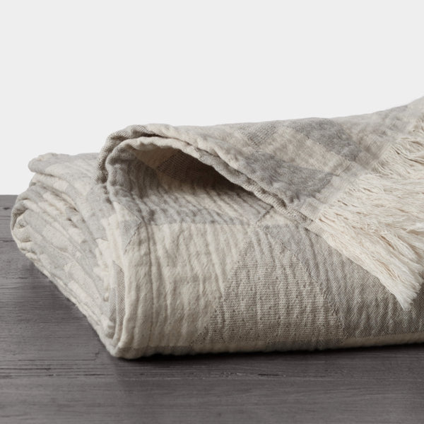 Pismo Organic Throw Blanket (Fog)