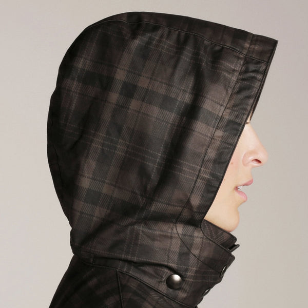 Queen Anne Trench- Brown Tartan